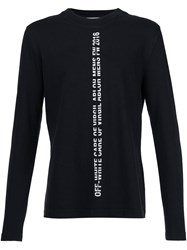 Off White Long Sleeve T Shirt Black