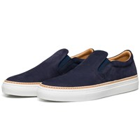 Number 288 Navy Houston Slip On Sneakers Blue