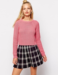 Monki Knitted Jumper Pink
