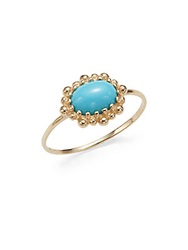 Anzie Dew Drop Turquoise And 14K Yellow Gold Ring Gold Turquoise