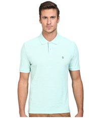 Original Penguin Daddy Polo Blue Tint Men's Short Sleeve Pullover Green