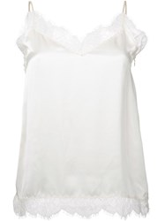 H Beauty And Youth Lace Detail Top White