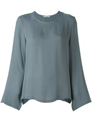 Barena Scoop Neck Blouse Grey