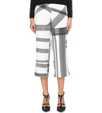 Ted Baker Cropped Checked Trousers Natural