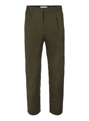 Selected Black Homme Khaki Cropped Smart Trousers