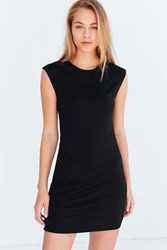Silence And Noise Mindy Mini Muscle T Shirt Dress Black