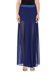 Pinko Black Long Skirts Dark Blue
