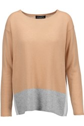 Magaschoni Color Block Cashmere Sweater Sand