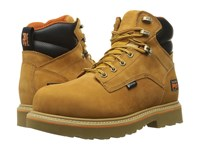 Timberland Ascender 6 Alloy Safety Toe Waterproof Boot Wheat Nubuck Leather Men's Work Lace Up Boots Tan