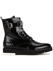Love Moschino Buckled Detailing Combat Boots Black
