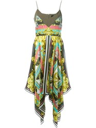 Marco Bologna Printed Hankerchief Dress