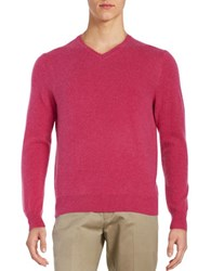 Black Brown Cashmere V Neck Sweater Rose Heather