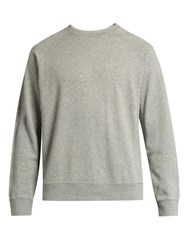 Frame Raglan Crew Neck Cotton Sweatshirt Grey