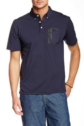 Ag Jeans Green Label The Cup Short Sleeve Polo Blue