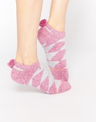 Stance Pom Pom Invisible No Show Socks Pink