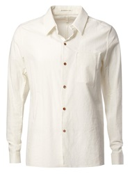 Individual Sentiments Creased Casual Shirt White