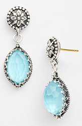 Konstantino 'Aegean' Drop Earrings Silver Turquoise