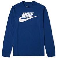 Nike Long Sleeve Futura Icon Tee Blue