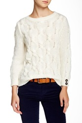 Wooden Ships Helena Cable Knit Sweater White