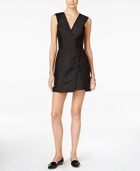 Armani Exchange Sleeveless Mini Dress Solid Black