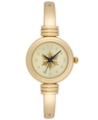 Charter Club Women's Gold Tone Hinged Bangle Bracelet Watch 25Mm Only At Macy's