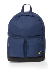 Lyle And Scott Double Front Pocket Backpack Navy