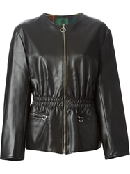 Jean Paul Gaultier Vintage Faux Leather Fitted Jacket Black