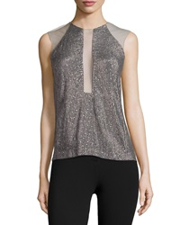 Kaufman Franco Sleeveless Embellished Top Carbon