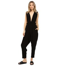 Limi Feu Satin Crepe Jumpsuit Black Women's Jumpsuit And Rompers One Piece