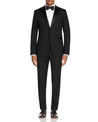 Z Zegna Satin Peak Lapel Slim Fit Tuxedo Black