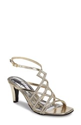 Love And Liberty Women's Sandy Embellished Sandal Platinum Faux Leather