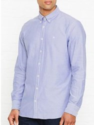 Hackett Plain Oxford Shirt Blue