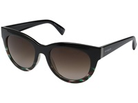 Vonzipper Queenie Muddled Teal Brown Gradient Sport Sunglasses Black