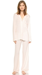 Eberjey Sleep Chic Pj Set Vintage Rose Hearts