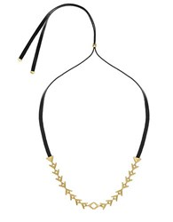 Sam Edelman Tribal Slider Necklace Gold