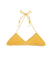 She Made Me Essential 70'S Halter Neck Triangle Bikini Top