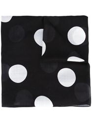 Akris Punto Polka Dot Scarf Black