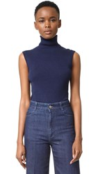 Diane Von Furstenberg Sutton Sleeveless Turtleneck Midnight
