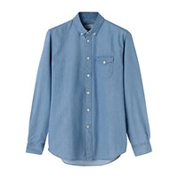 Jigsaw Bleached Denim Shirt Chambray