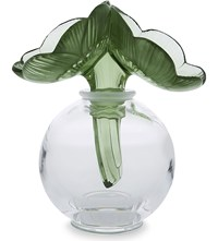 Lalique Anemone Crystal Perfume Bottle Clear And Green