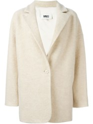 Maison Martin Margiela Mm6 Maison Margiela Single Button Coat Nude And Neutrals
