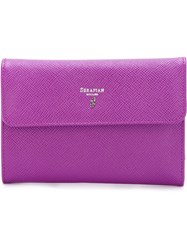 Serapian Classic Flap Wallet Pink And Purple