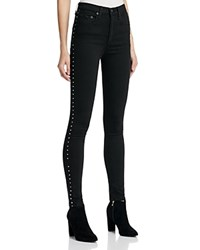 Rag And Bone Jean Dive Skinny Jeans In Studded Black