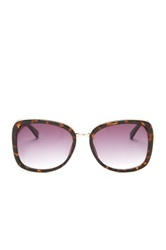 Kenneth Cole Reaction Women's Metal Bridge Oversized Sunglasses Brown