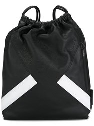 Neil Barrett Stripe Sack Backpack Black