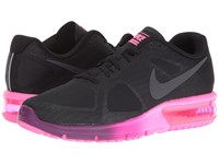 Nike Air Max Sequent Black Pink Blast Bright Grape Anthracite Women's Running Shoes