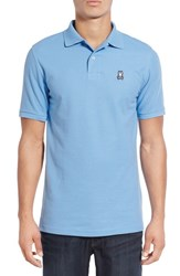 Psycho Bunny Men's Classic Pima Cotton Pique Polo Lake Blue