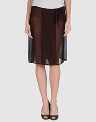 D.Exterior Knee Length Skirts Cocoa