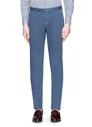 Boglioli Slim Fit Stretch Cotton Chinos Blue