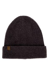 Herschel Men's Supply Co. Cardiff Cashmere And Wool Beanie Grey Cashmere Charcoal